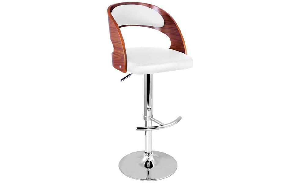 White   artiss wooden gas lift bar stool   web3
