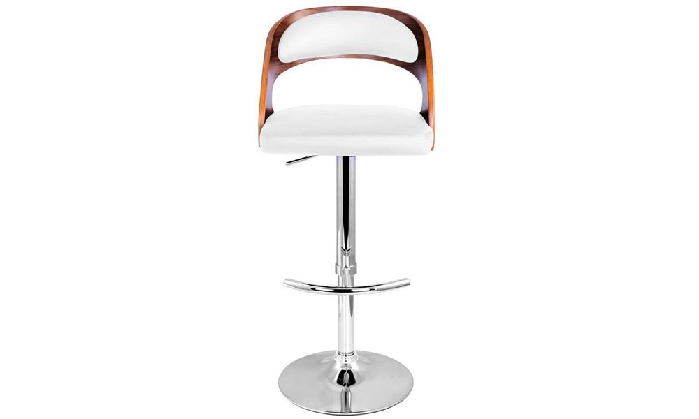 White   artiss wooden gas lift bar stool   web4