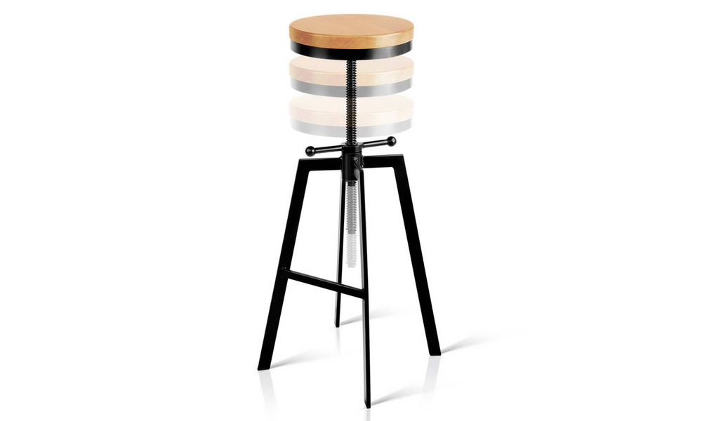 Artiss adjustable height swivel bar stool   web3