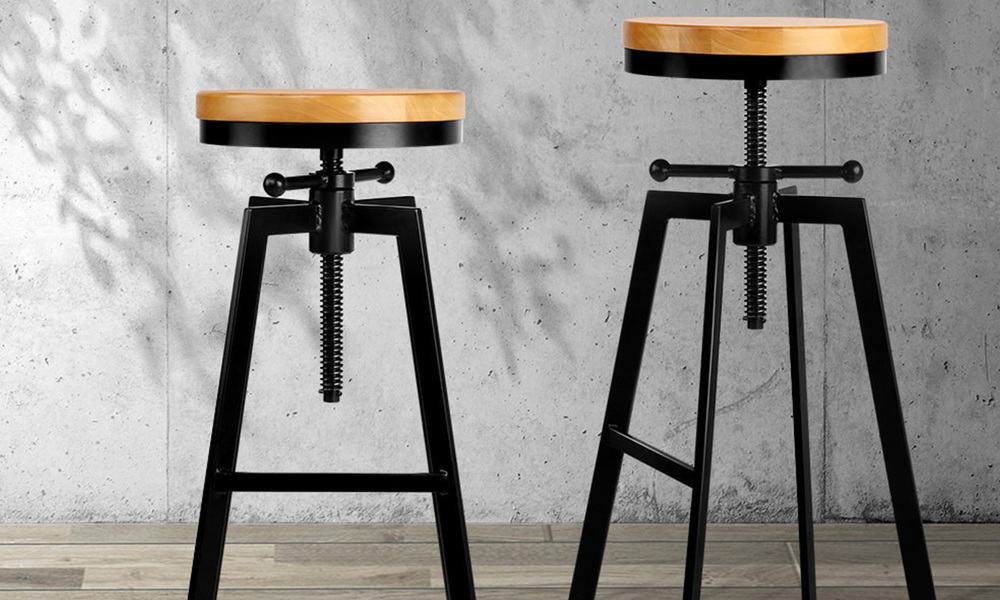 Artiss adjustable height swivel bar stool   web5