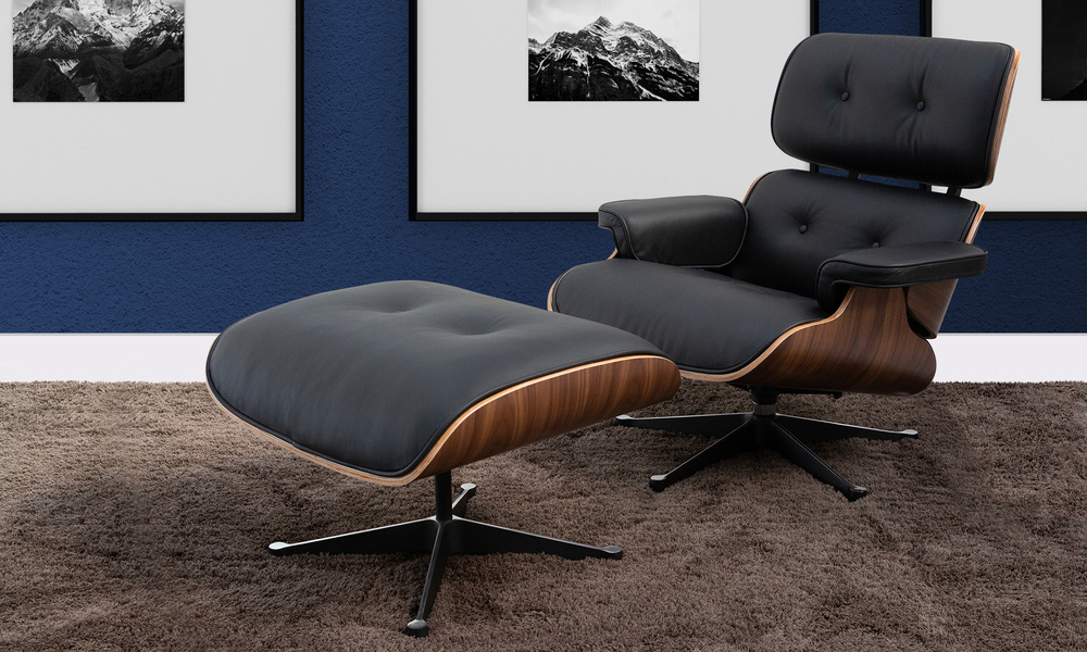 Admirable Container Door Ltd Replica Eames Lounge Chair Ottoman Customarchery Wood Chair Design Ideas Customarcherynet