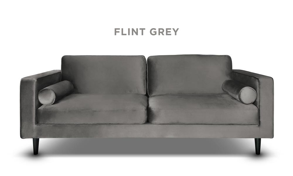 Flint grey   hendrix velvet 3s sofa   web1