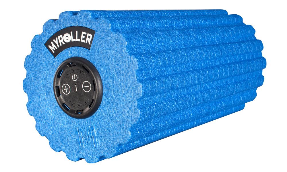 Blue   vibrating fitness roller 5 speed   web1