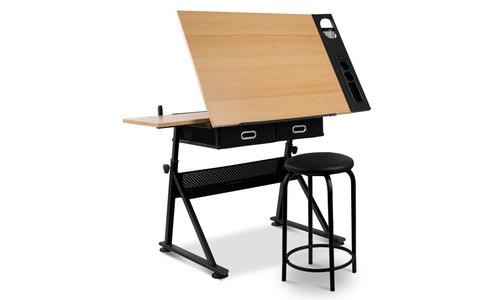 Artiss tilt drafting table stool set   web1