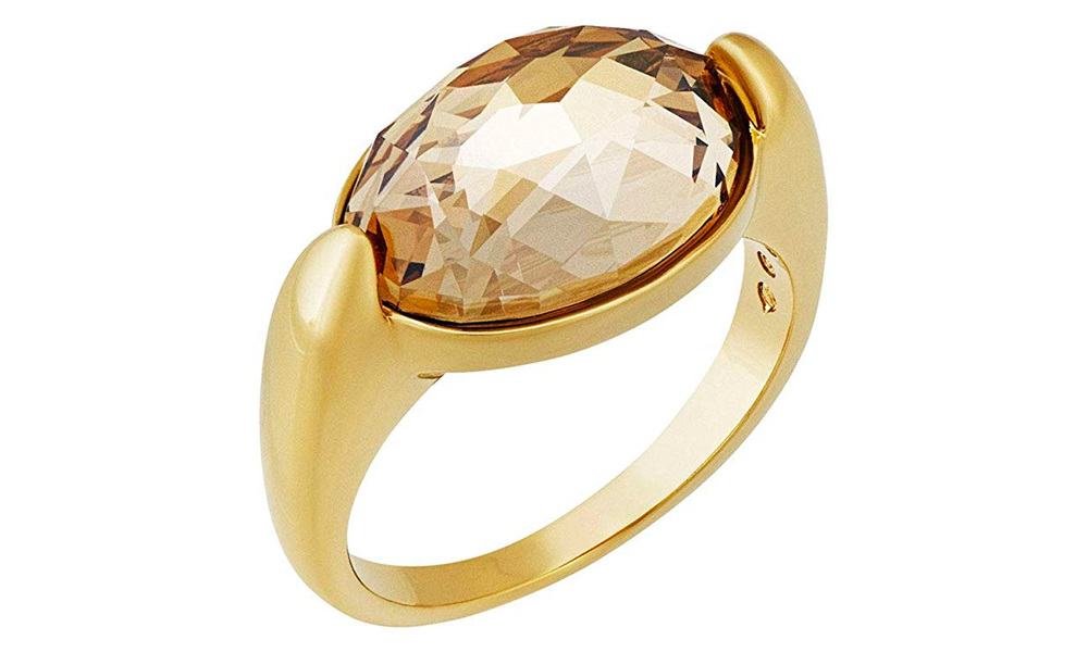 1664   swarovski vanilla golden crystal ring   web1