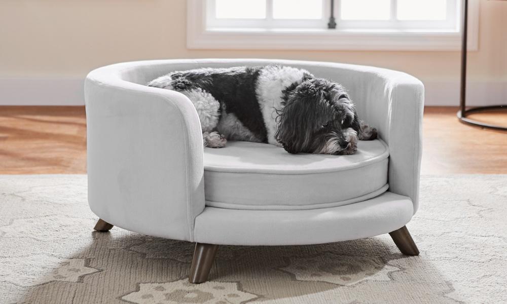 Grey   bella dog sofa   web1