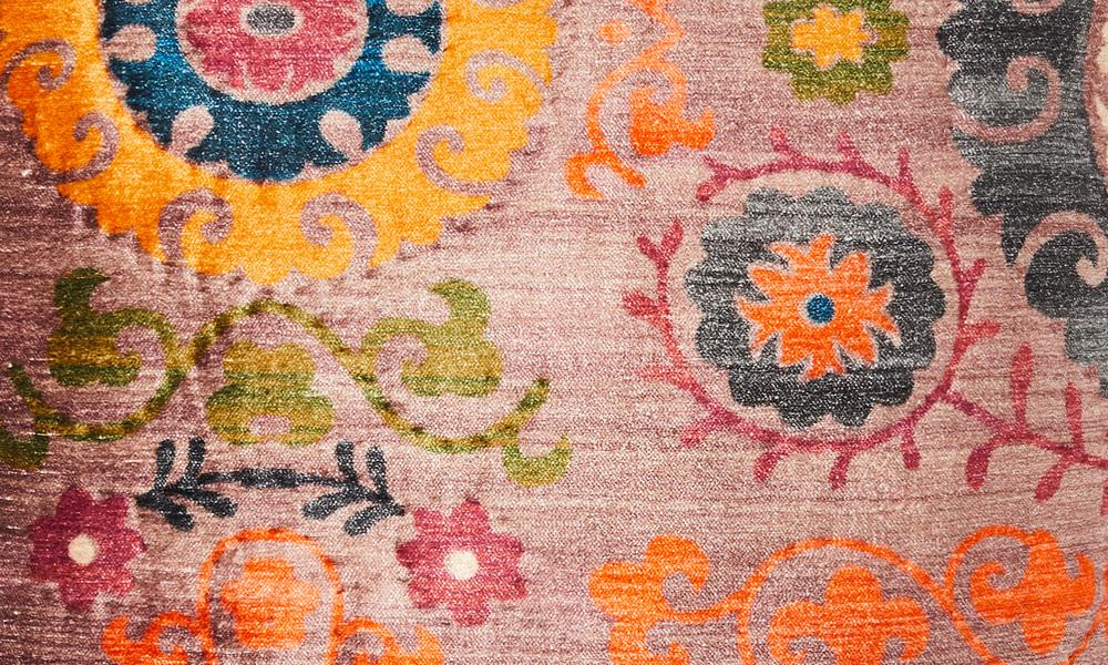 Cardamom embroidered cushion   web2