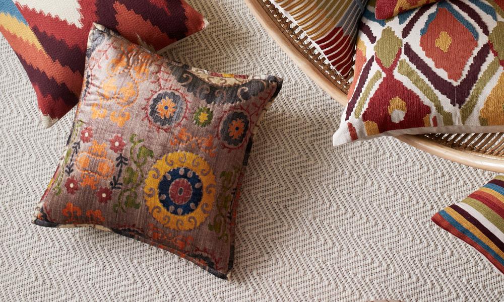 Cardamom embroidered cushion   web4