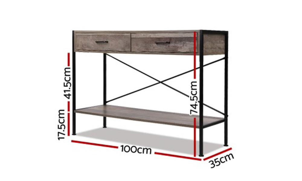 artiss wooden hallway console table   web3