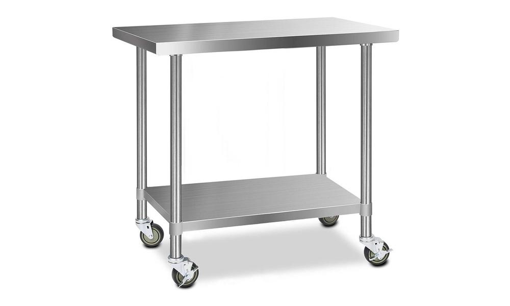 Stainless steel kitchen cart 1.2m    web1