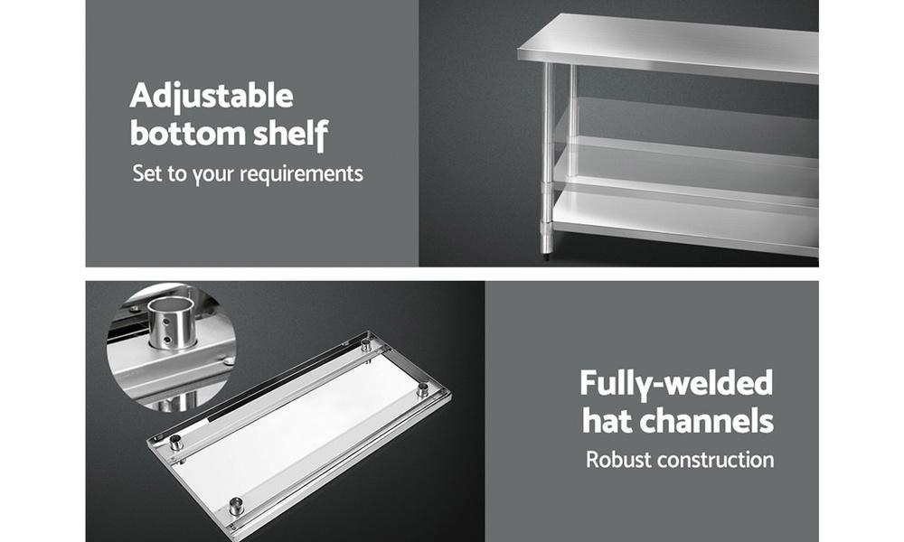 Stainless steel kitchen cart 1.2m    web5