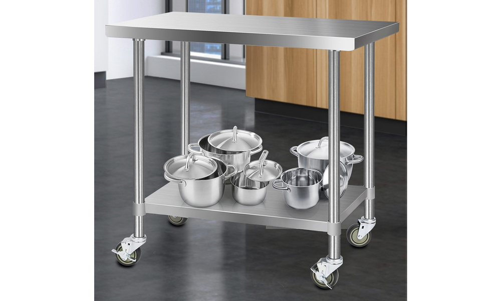 Stainless steel kitchen cart 1.2m    web7