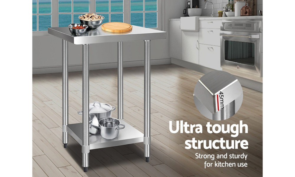 stainless steel kitchen bench 610 x 610mm  web4