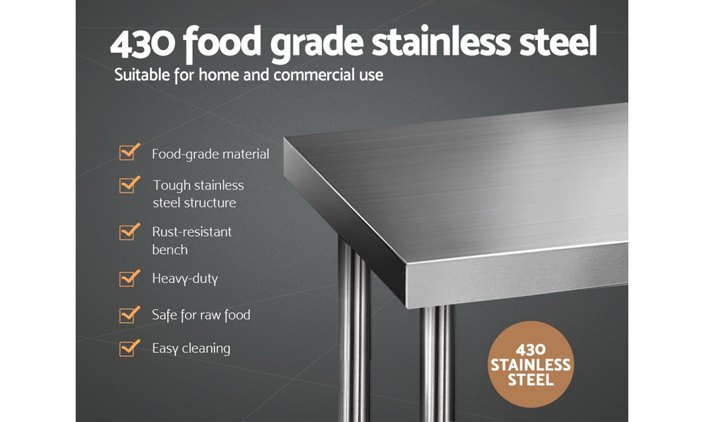 stainless steel kitchen bench 610 x 610mm  web6
