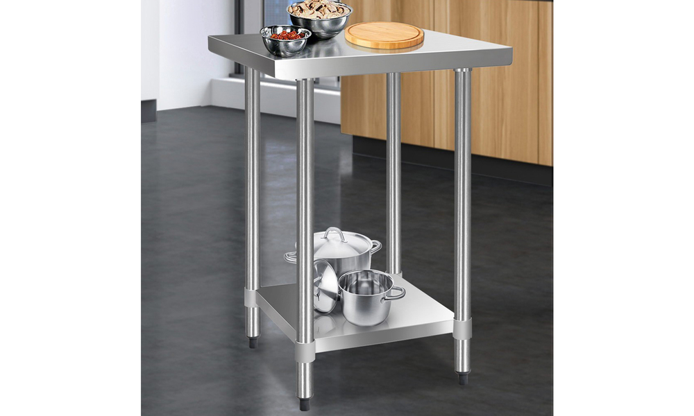 Stainless steel kitchen bench 610 x 610mm   web3