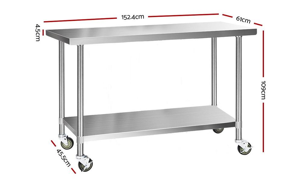 1.5m stainless steel kitchen cart    web2