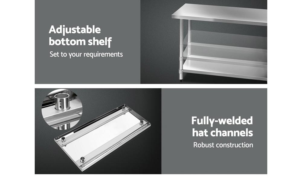 1.5m stainless steel kitchen cart    web4