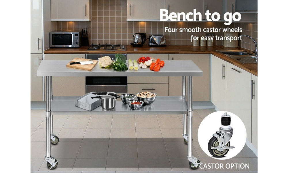 1.5m stainless steel kitchen cart    web6