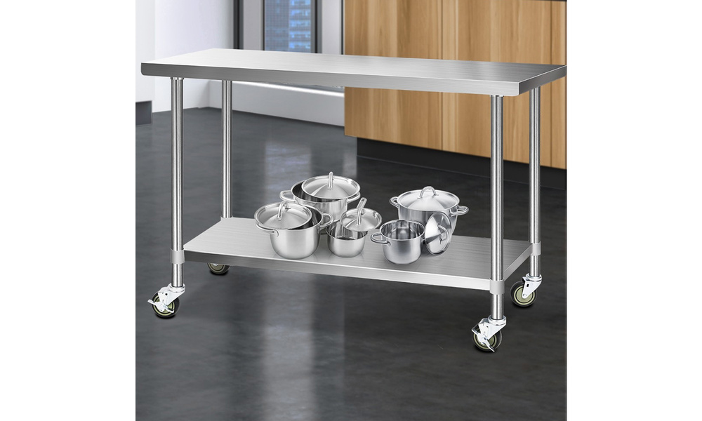 1.5m stainless steel kitchen cart    web7