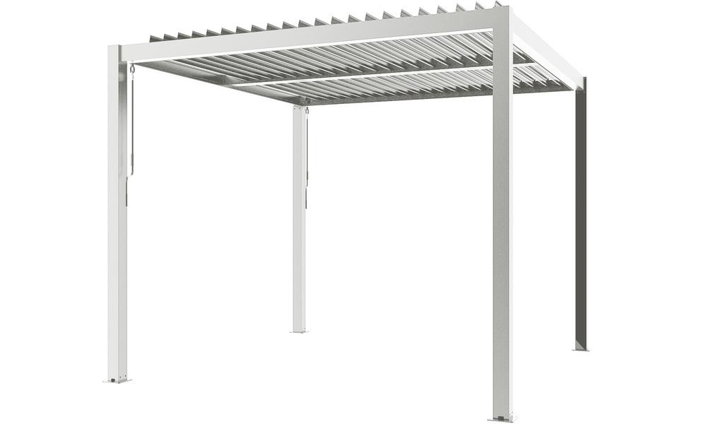 White   aluminium pergola   web2