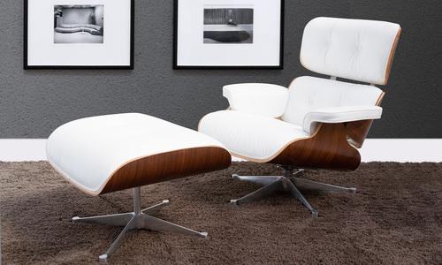 White   replica eames lounge chair   ottoman   web1