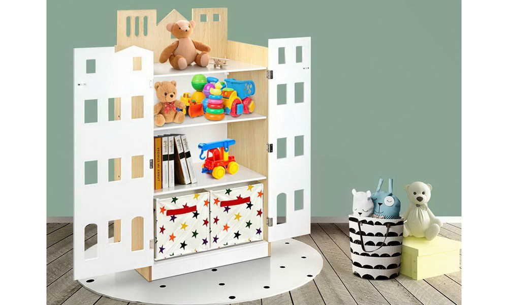 artiss 4 children's house bookcase   web5