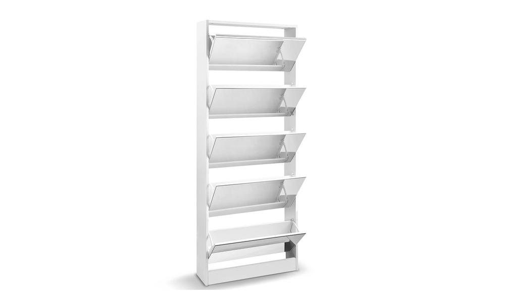 artiss 5 drawer mirrored wooden shoe cabinet   web3