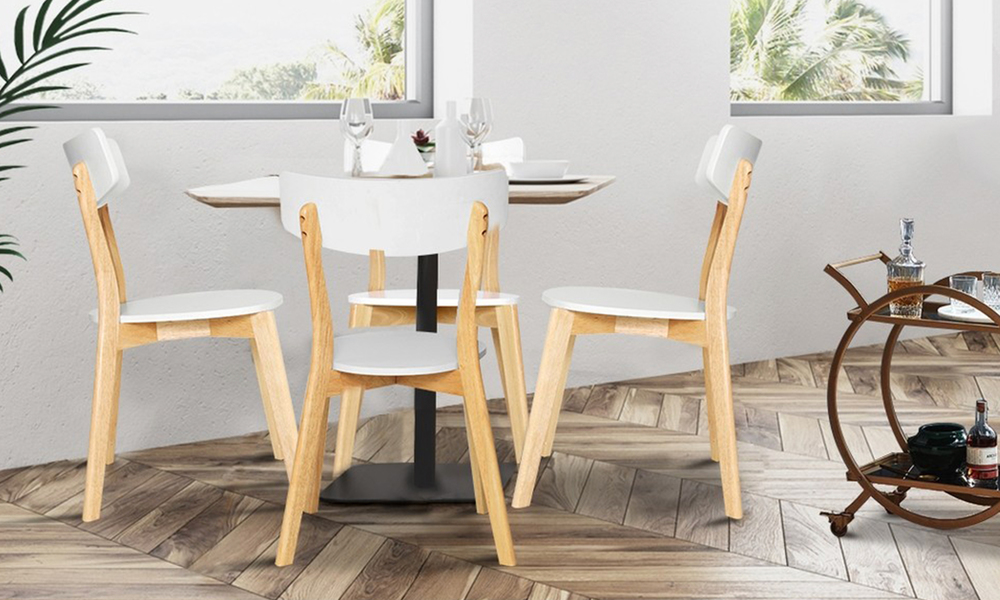 artiss rubber wood dining chairs set of 2   web4