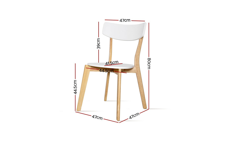Artiss rubber wood dining chairs set of 2    web3