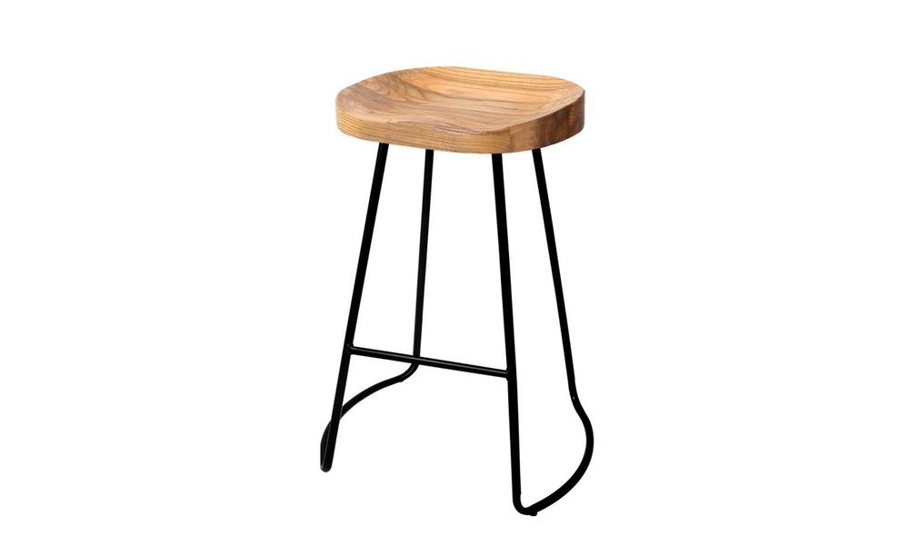 Artiss set of 2 wooden tractor bar stool   natural   web7