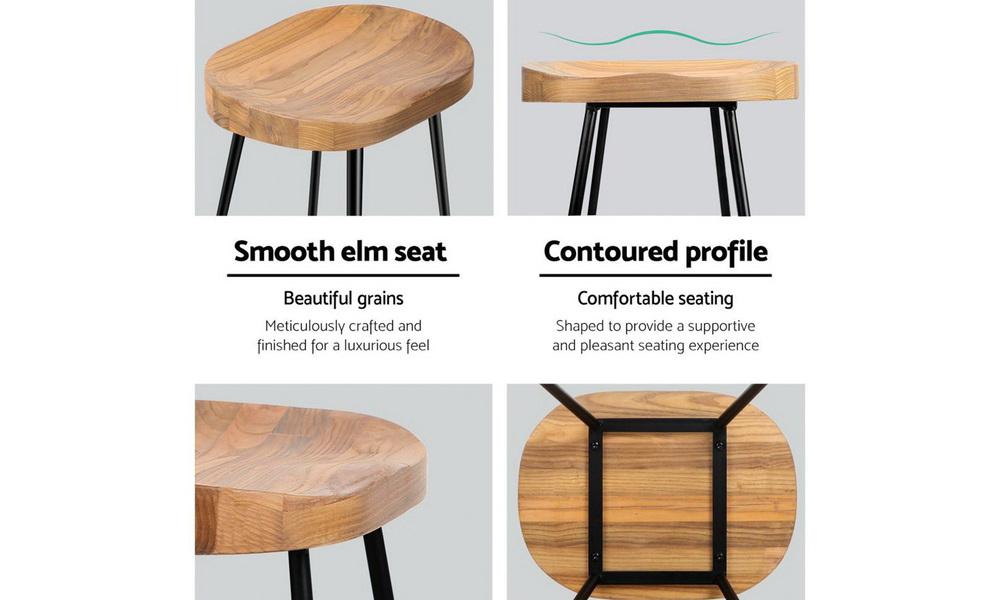 Artiss set of 2 wooden tractor bar stool   natural   web10
