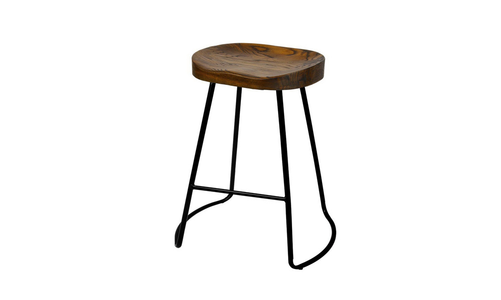 Artiss set of 2 wooden tractor bar stool   dark    web2