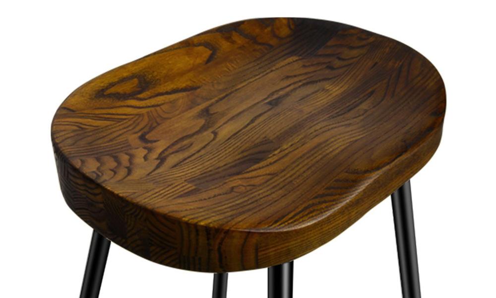 Artiss set of 2 wooden tractor bar stool   web4