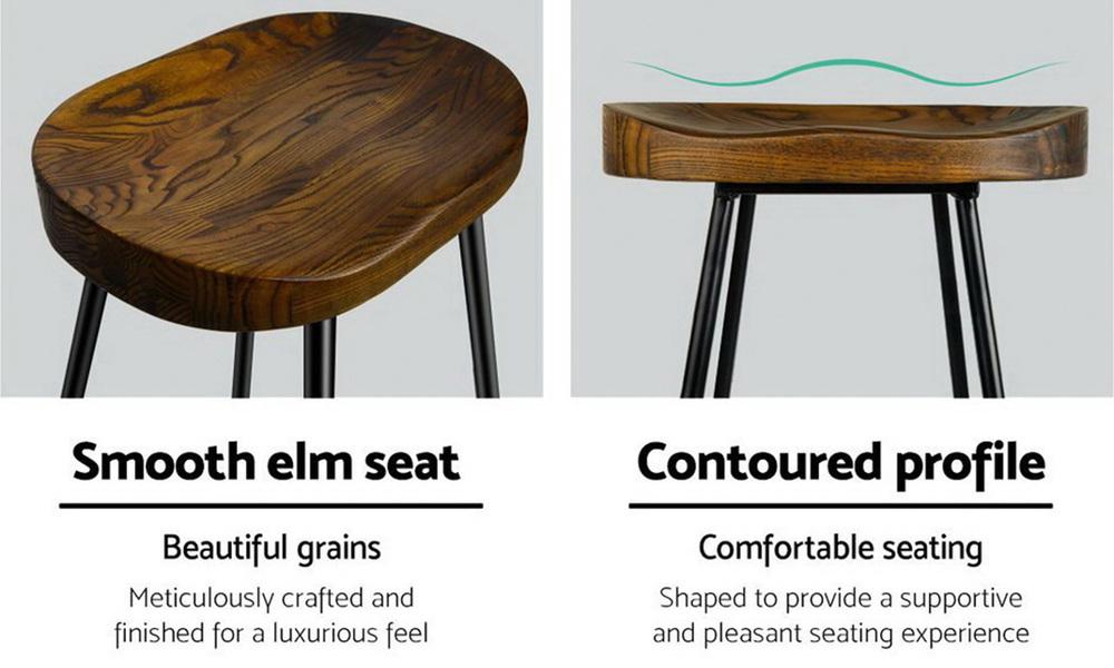 Artiss set of 2 wooden tractor bar stool   web5