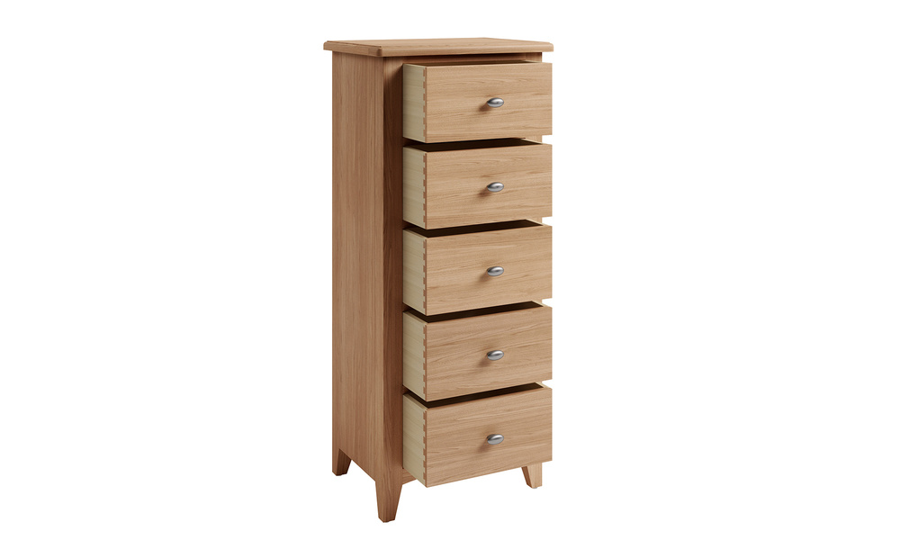 Riviera 5 drawer narrow chest   web2