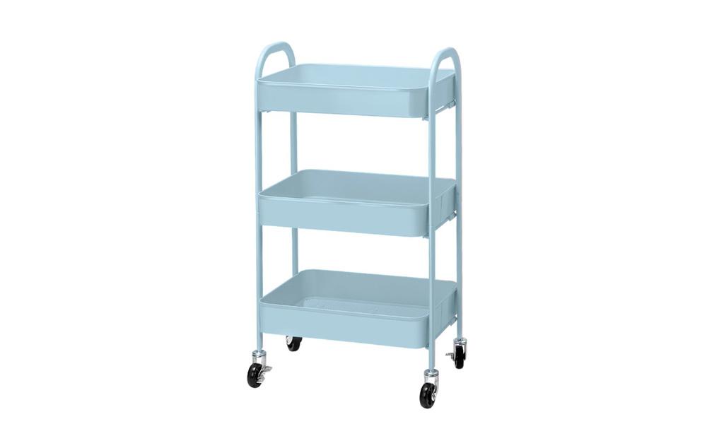 artiss 3 tier kitchen cart   blue   web5