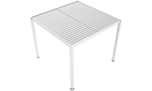 Matte white   aluminium pergola   web 1