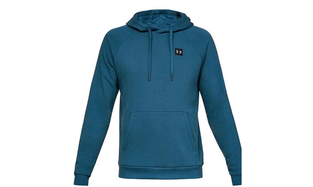 Ua mens rival fleece hoodie   blue green   web1
