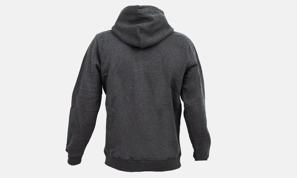 Biglogo hoodie dark grey white mixed  web2