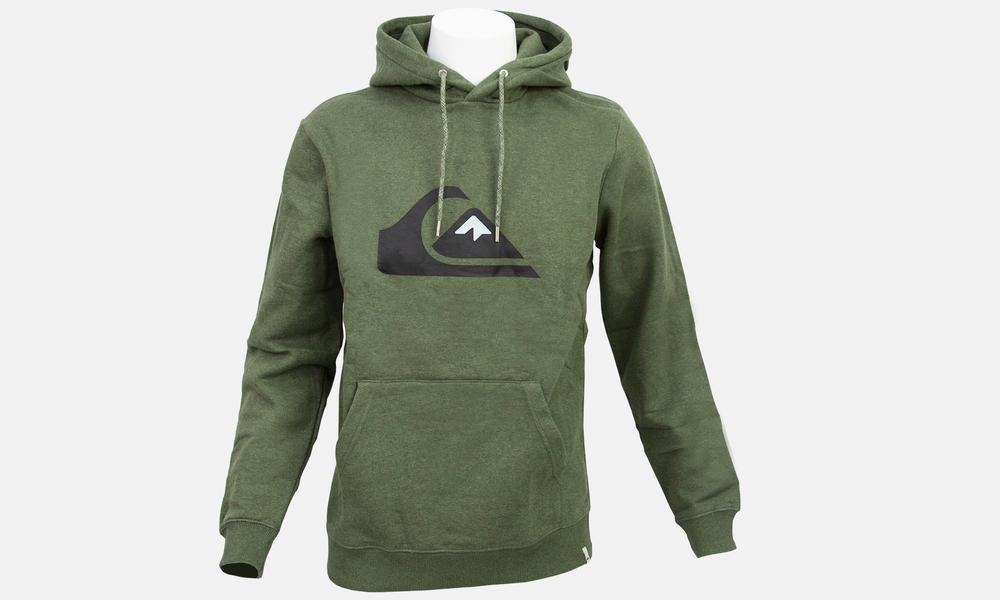 Biglogo hoodie green marle black  web1
