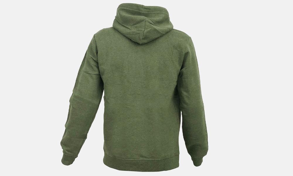Biglogo hoodie green marle black  web2