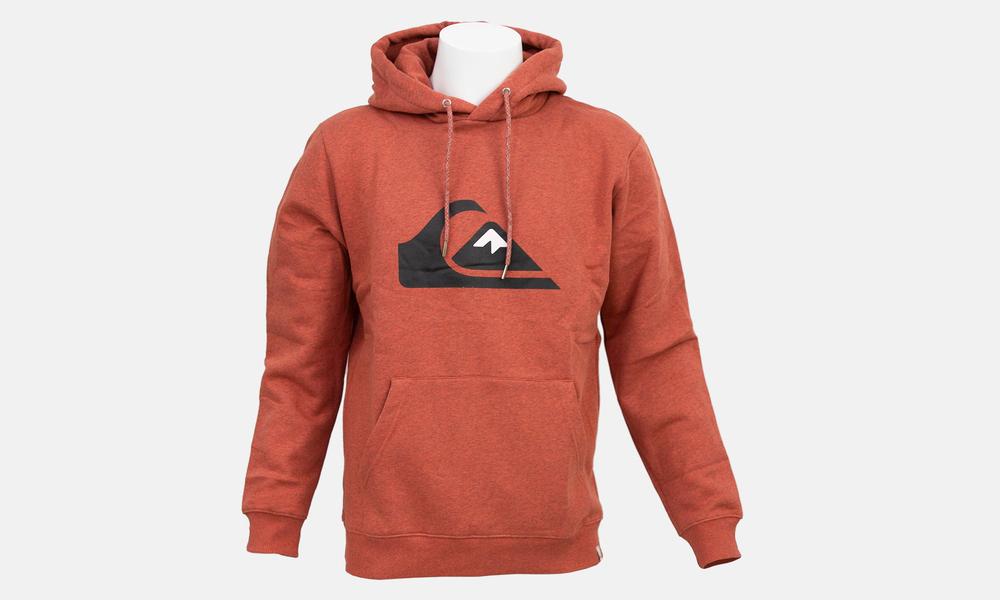 Biglogo hoodie orange marle black  web1
