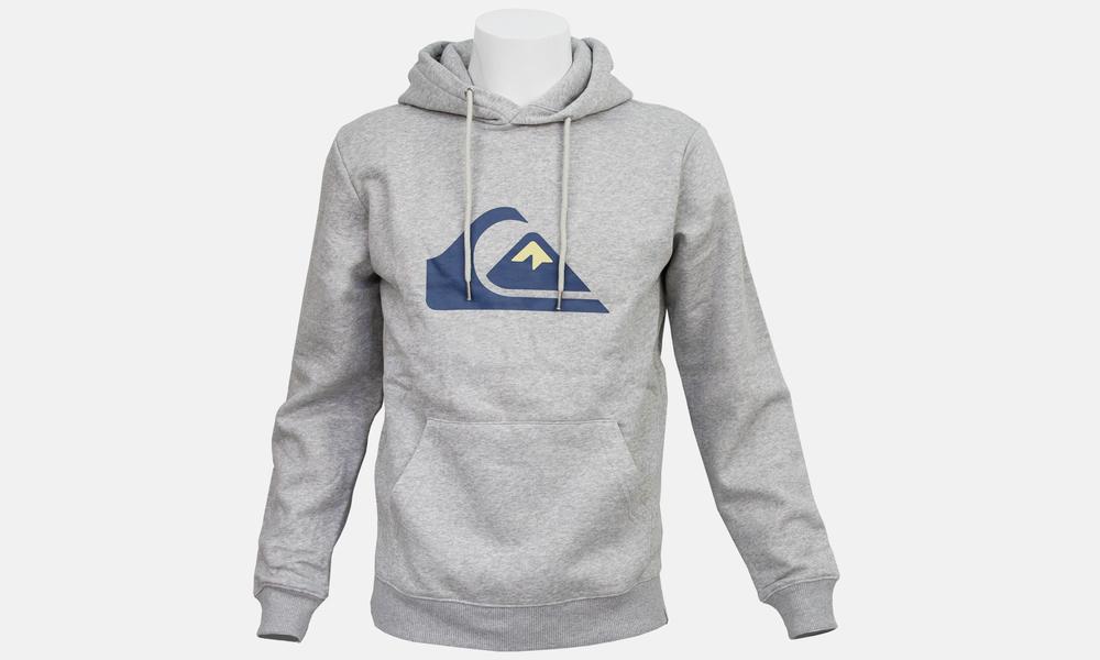 Biglogo hoodie grey blue marle  web1