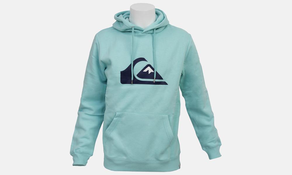 Biglogo hoodie aqua dark blue   web1