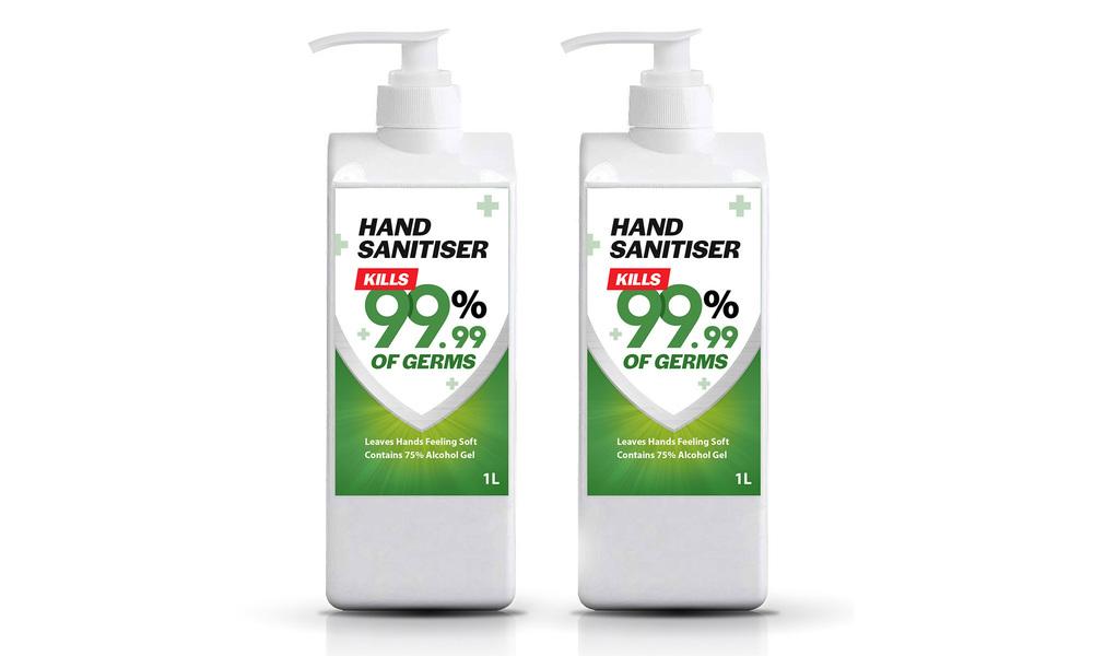Hand sanitizer 1l   two bottles   web