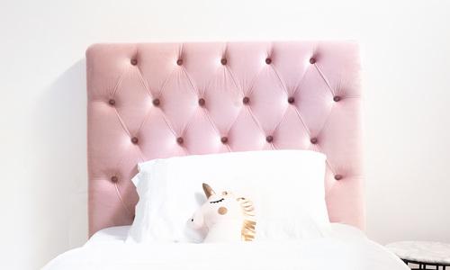 Dusky pink   kingston velvet tufted headboard   web1