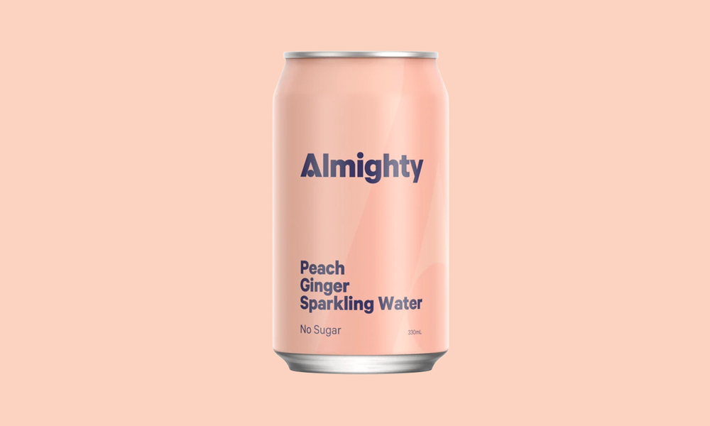 Almighty sparkling water   peach   web