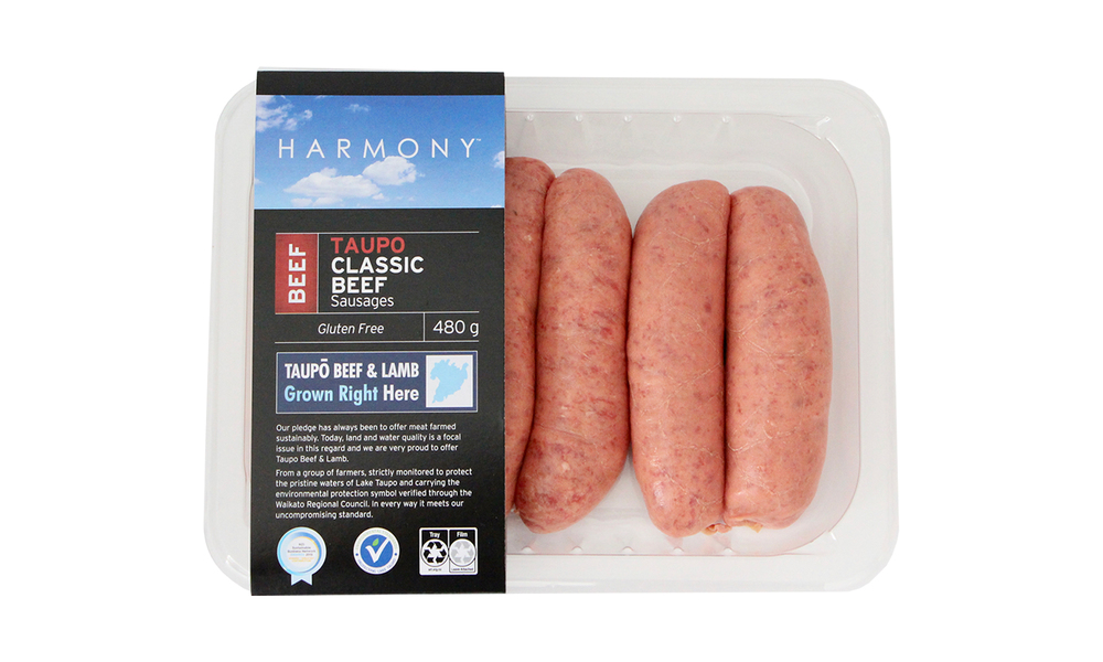 Harmony taupo classic beef sausages   web