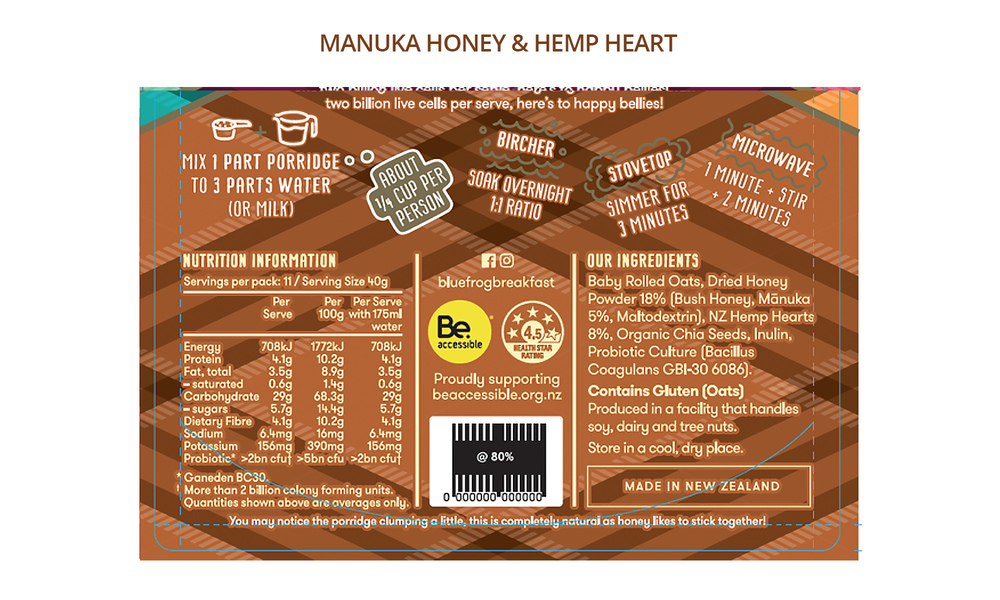 Blue frog porridge manuka honey info   web2