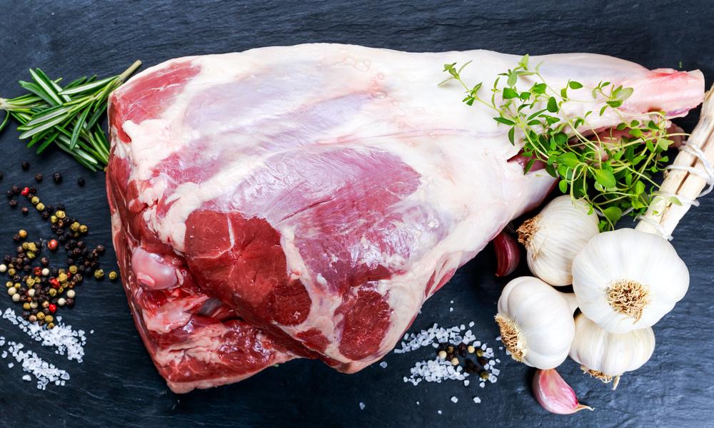 Nz lamb leg bone in raw